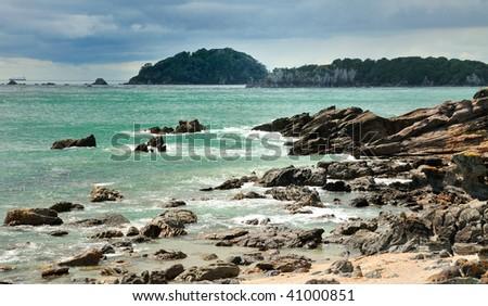Rocky Coast, Coastal walk at Manganui, Bay of Plenty, New Zealand