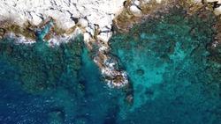Rocky coast from Alanya, Turkey
