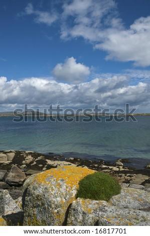 Rocky coast of an Atlantic bay. Near Carna, Connemara, West Coast of Ireland