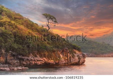 rocky coast of Island in thailand