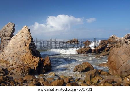 Rocky coastline Corona del Mar, CA