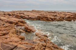 Rocky coastline from Nova Scotia