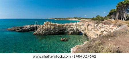 Rocky coastline in the Gelsomineto area, near Siracusa #1484327642