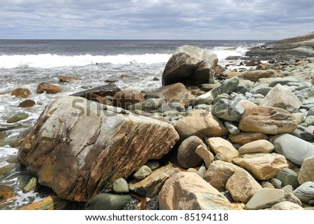 Rocky coastline of Atlantic Canada