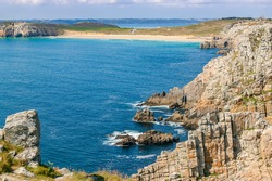 rocky coastline of Brittany, France