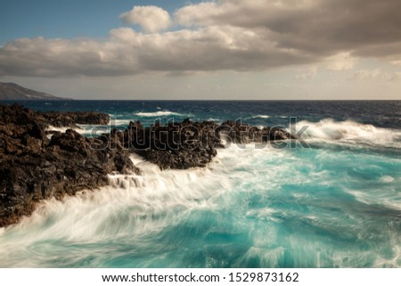 Rocky coastline of Los Cancajos, La Palma, Spain #1529873162