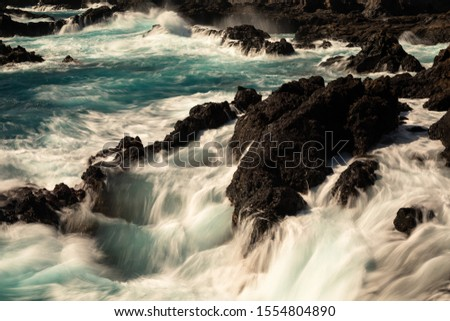 Rocky coastline of Los Cancajos, La Palma, Spain #1554804890