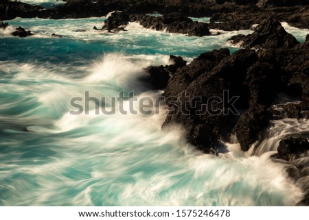 Rocky coastline of Los Cancajos, La Palma, Spain #1575246478