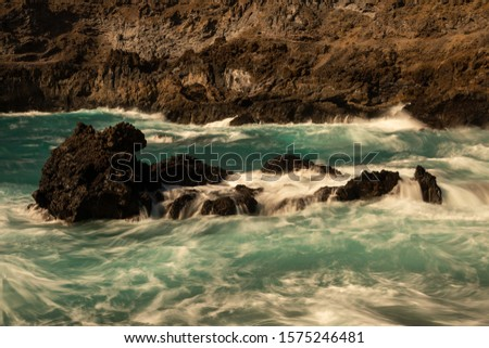 Rocky coastline of Los Cancajos, La Palma, Spain #1575246481