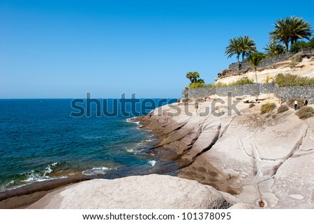 Rocky coastline of Tenerife one of the Canary Islands