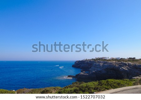 Rocky Coastline with blue sky