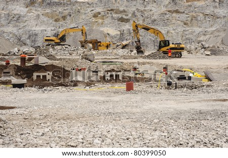 Rocky construction site