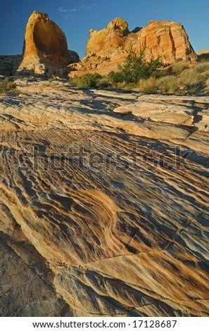 Rocky desert landscape Valley of Fire State Park, Nevada, USA