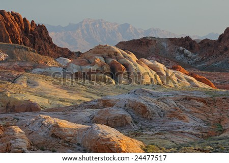 Rocky desert landscape, Valley of Fire State Park, Nevada, USA