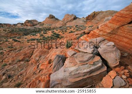Rocky desert landscape, Valley of Fire State Park, Nevada, USA