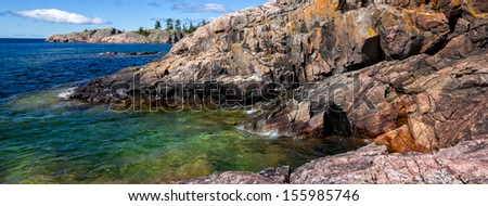 Rocky formations at the north shore of Lake Superior