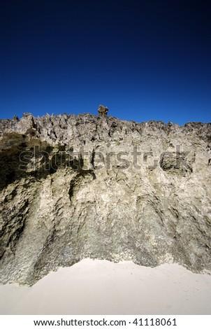 Rocky island with tsingy cliffs