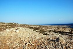 Rocky landscape. Lampedusa, Italy. Summer 2009.