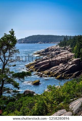 Rocky Maine Cliffs #1258280896