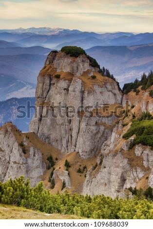 rocky mountain formation in Romanian Carpathians