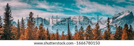Rocky mountain national park mountains and trees Stock photo ©
