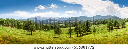 Rocky Mountain National Park panoramic view