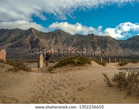 Rocky Mountains at Cofete Beach
