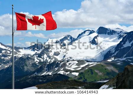 Rocky mountains at Whistler, Canada.