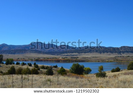 rocky mountains by the Chatfield reservoir #1219502302