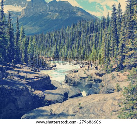 rocky mountains landscape with...