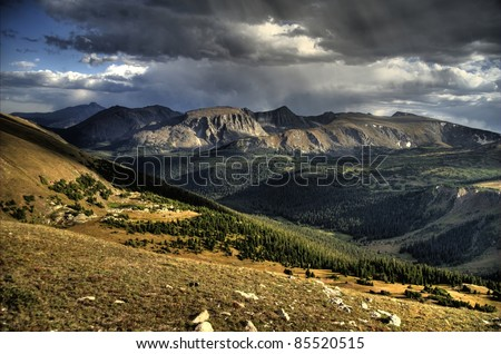 Rocky Mountains National Park, Colorado, United States. HDR Photography. Summer time.