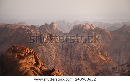 Rocky mountains peaks on sunrise colors 3