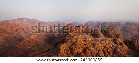 Rocky mountains peaks on sunrise colors 2