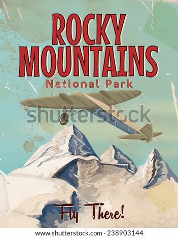 rocky mountains vintage travel...