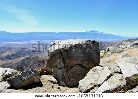 Rocky Mountainside with View of Coachella Valley #1058131013