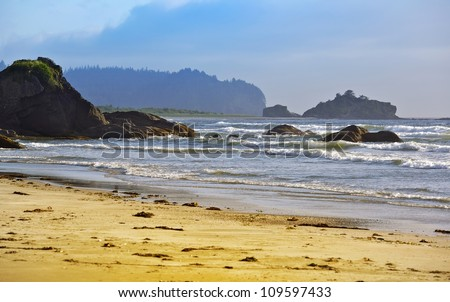 Rocky Pacific Coast - Washington State Pacific Coast. Nature Photography Collection.