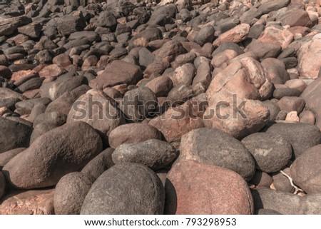rocky rock boulders along ocean ...