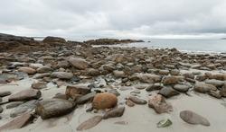 Rocky seashore in Rockport, Massachusetts on Cape Ann.