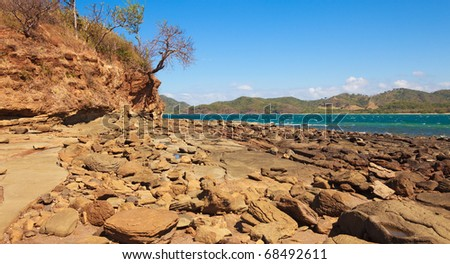 Rocky shore in the Guanacaste province of Costa Rica.
