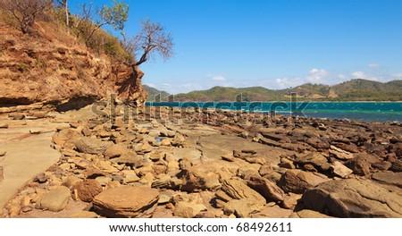 Rocky shore in the Guanacaste province of Costa Rica.