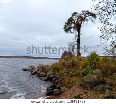 rocky shore of Lake