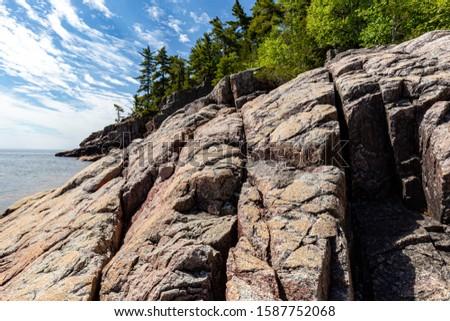 Rocky shoreline on Lake Superior.