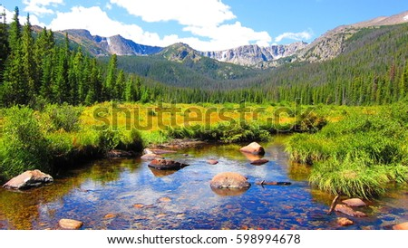 Rocky Stream in the Mountains of Colorado #598994678