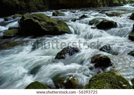 Rocky Stream Running Water