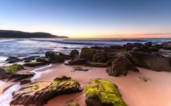 Rocky Sunrise Seascape - Taken at Killcare Beach, Central Coast, NSW, Australia