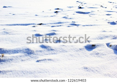 Rocky terrain covered with snow