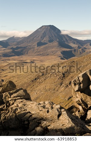 Rocky terrain leading to Mt Doom, Ngauruhoe, New Zealand