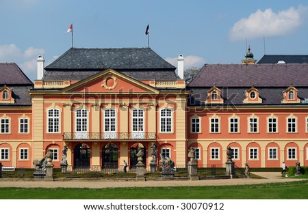 Rococo chateau - stock photo