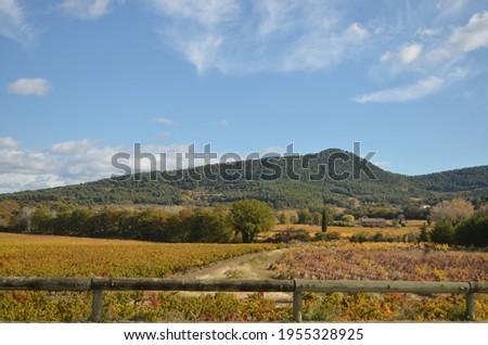 Rode France scenic day wooden barrier Stock fotó ©