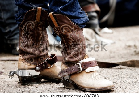 Rodeo cowboy's boots